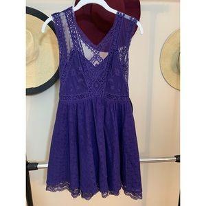 Free People Dresses - Free People Vintage Princes Blue lace Dress